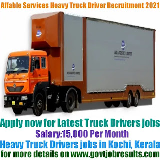 Affable Management Services Heavy Truck Driver Recruitment 2021-22