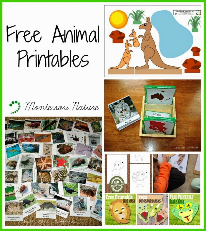 Free Animal Printables Montessori Nature