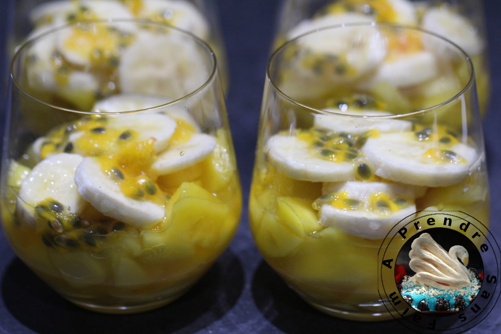 Salade mangue banane passion