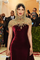 Priyanka Chopra in Maroon Velvet Gown at 2018 MET Costume Insute Gala ~  Exclusive 08.jpg