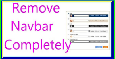 how to remove navbar layout from blogger blogspot