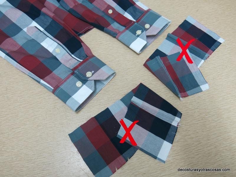 mangas de camisa arregladas paso a paso