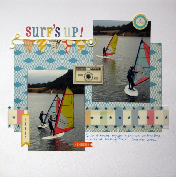 Jimjams - Layout - Surf's Up! - Crate Paper Boys Rule - SJ Crafts