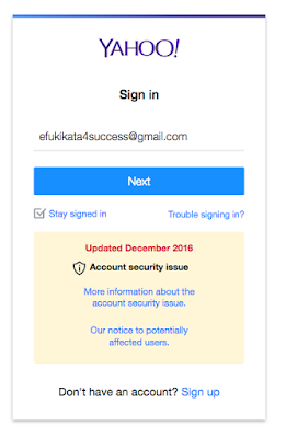 Yahoomail Sign in