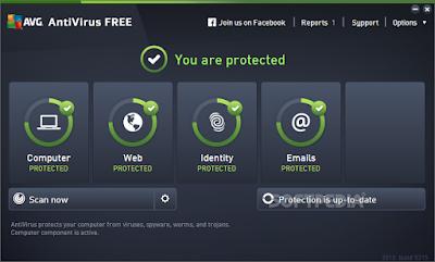 برنامج مكافحة الفيروسات المجاني AVG Antivirus Free 2015 Build 5856