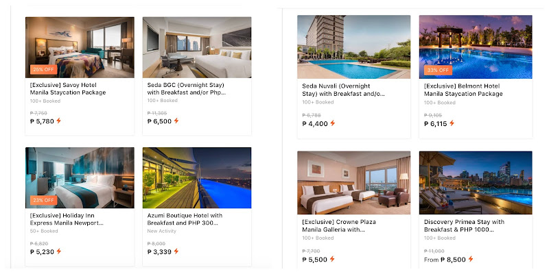 Book Discounted Hotel Vouchers and Staycation Packages