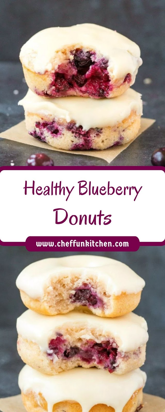 Healthy Blueberry Donuts