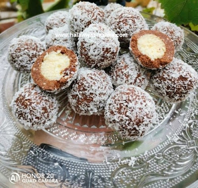 حلوة بدون فرن محشية بجوز هند والشوكولاته