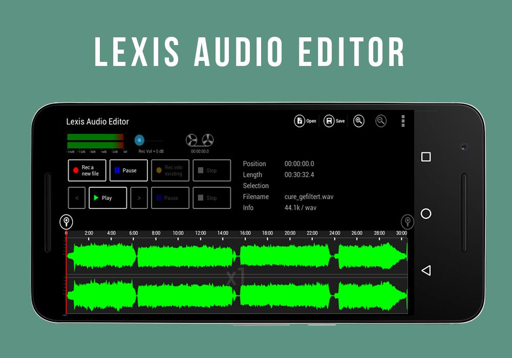 Aplikasi Reccording Lagu Terbaik di Android Lexis Audio Editor