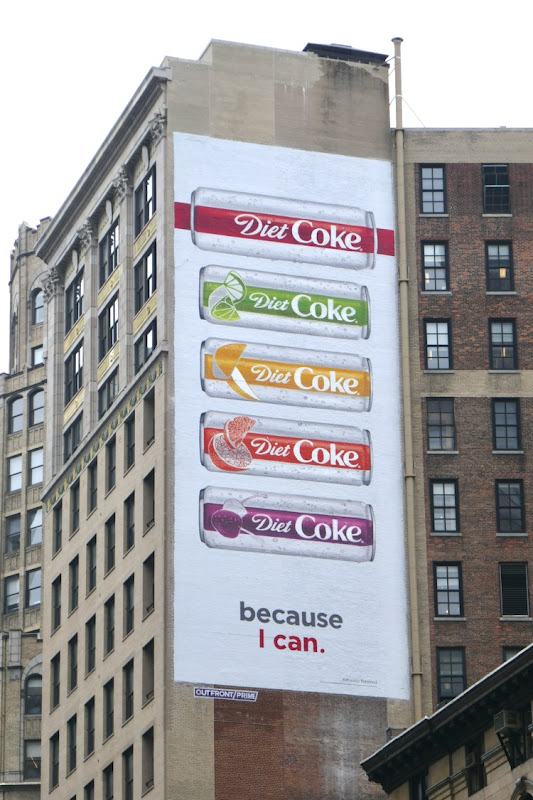 Diet Coke Flavors because I can billboard