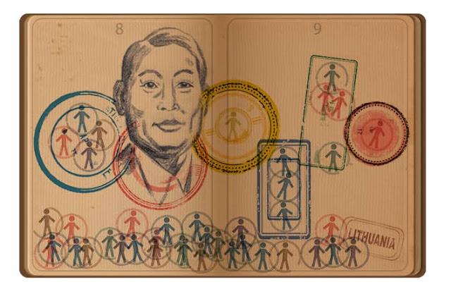 Celebrating Chiune Sugihara, Google Doodle Today