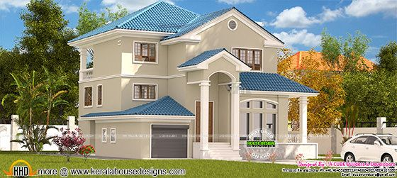 beautiful sloping roof 2360 sq-ft home