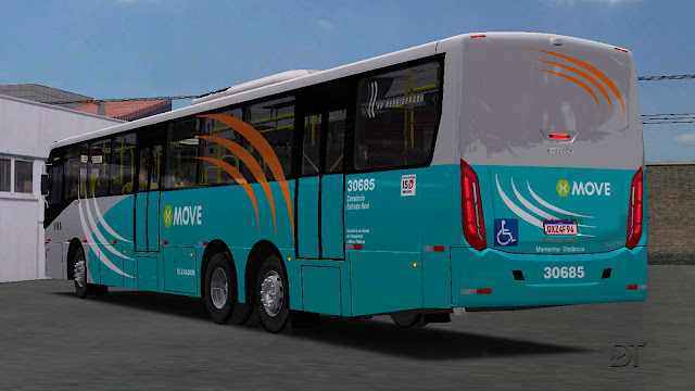 OMSI 2 - Caio Apache VIP IV BRT Volvo B270F 6×2 com terceiro eixo direcional