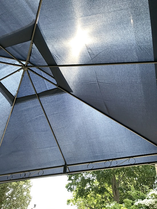 navy blue gazebo cover