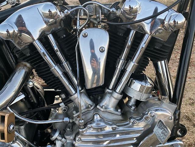 Harley Davidson Knucklehead By Black Board Hell Kustom