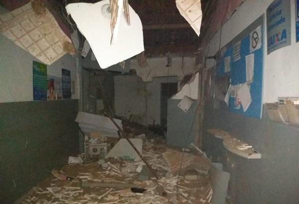 Quadrilha explode lotérica e agência dos Correios e assusta população com tiros  em Pedra Grande, RN