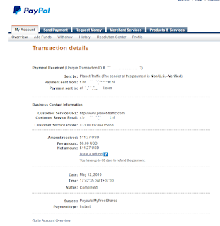 Payment from My Free Shares