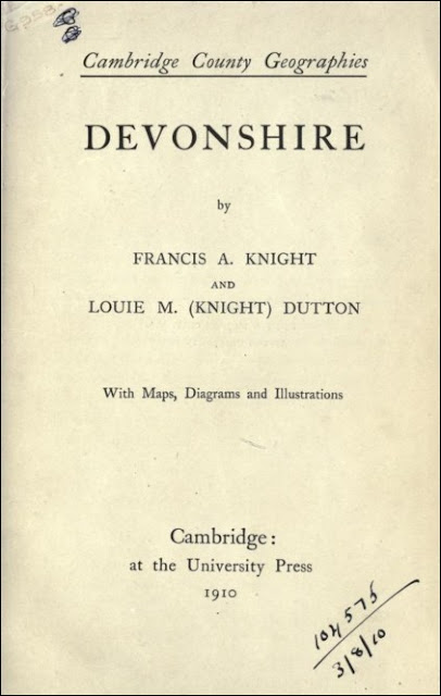 Devonshire (Francis A Knight & Louie M Dutton, 1910)