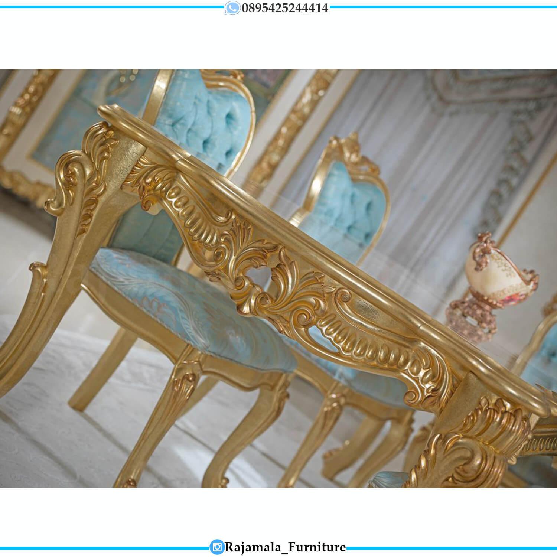 Gloria Style Meja Makan Mewah Jepara Terbaru Luxury Elegant Model RM-0464