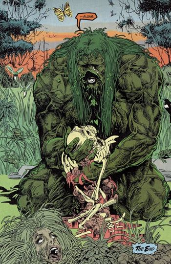 La cosa del pantano es un héroe de DC Comics