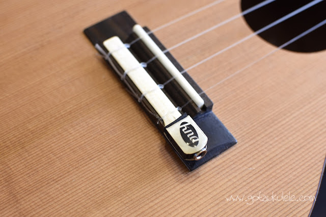 Kremona UK-1 Ukulele pickup fitted