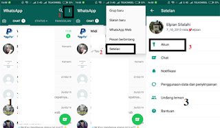 Setting whatsapp agar tidak terlihat sedang online