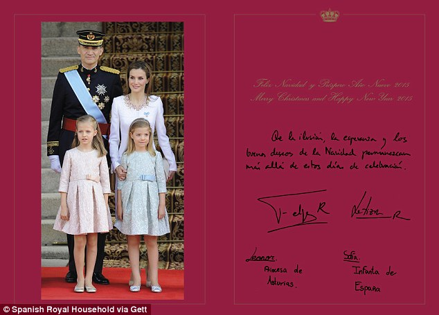 Spanish Royal Family's Official Christmas Cards