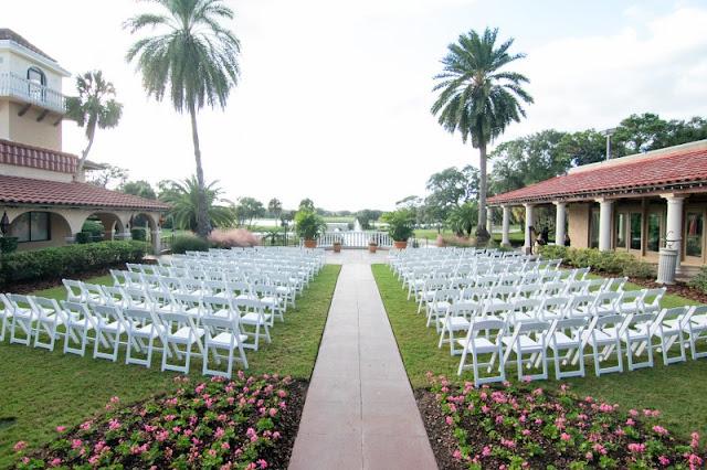 ceremony setup at Mission Inn Resort