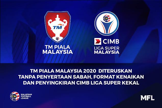 TM PIALA MALAYSIA 2020 DITERUSKAN TANPA PENYERTAAN SABAH,