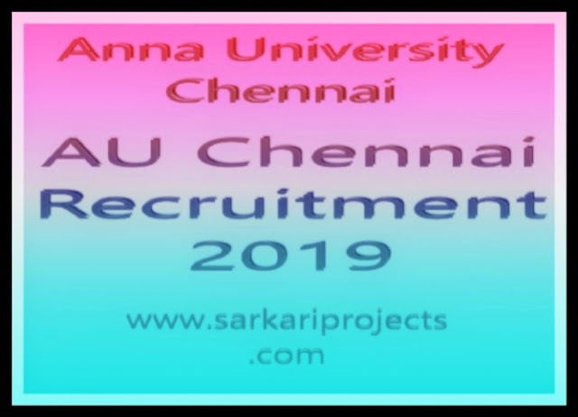 Au Chennai Recruitment 2019 Apply Online Technical Assistant Post at Chennai