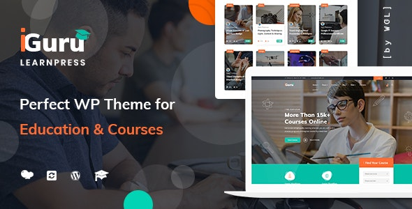 iGuru - Education & Courses WordPress Theme Free Download Nulled