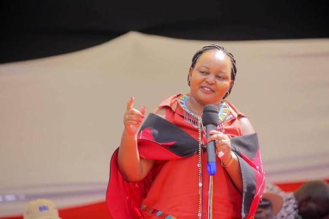 Kirinyaga Governor Mrs Ann Kamotho Waiguru in BBI rally, Narok. PHOTO | BMS
