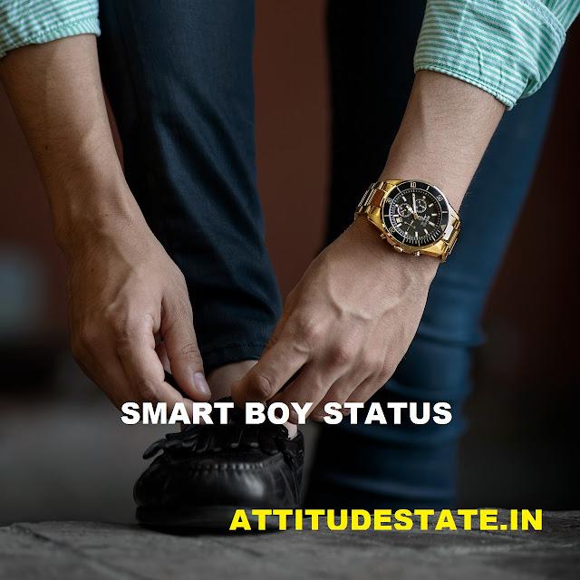 smart boy attitude status hindi
