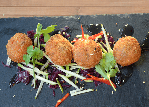 Delicious Deep Fried Crab Meat Balls