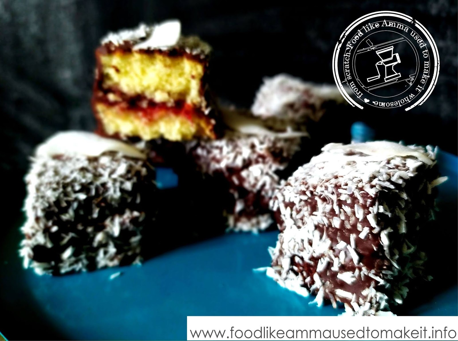 Easy Lamingtons with Jam Recipe