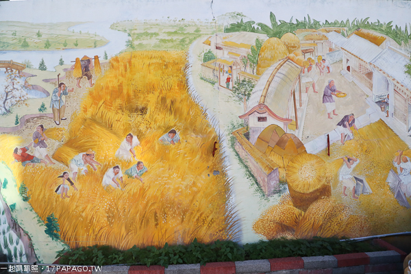台中烏日|學田里兒1公園|復古磨石子溜滑梯公童公園|沙坑|農村彩繪牆