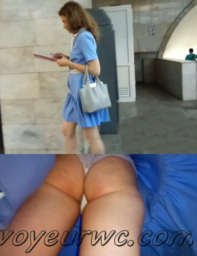 Upskirts 4086-4095 (Secretly taking an upskirt video of beautiful women on escalator)
