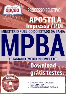 Apostila Estágio Ministério Público Bahia - MP-BA.