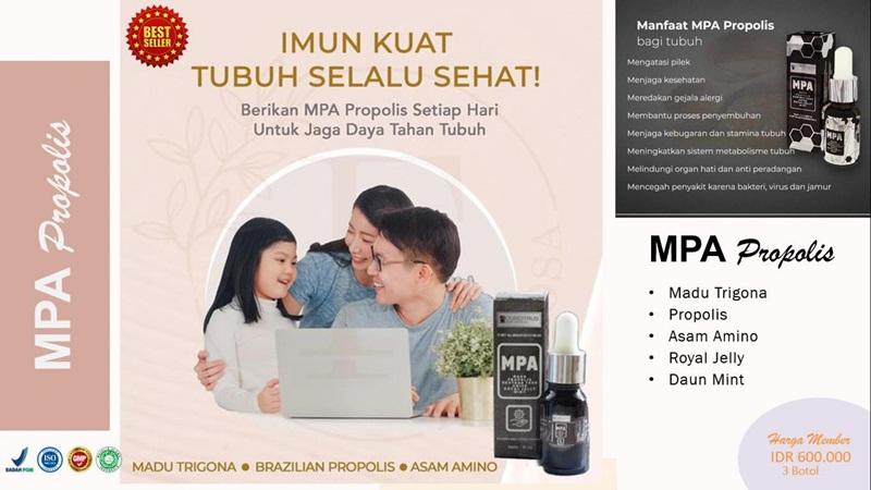 MPA Propolis, antibiotik alami, anti jamur, anti virus, anti peradangan, booster imun