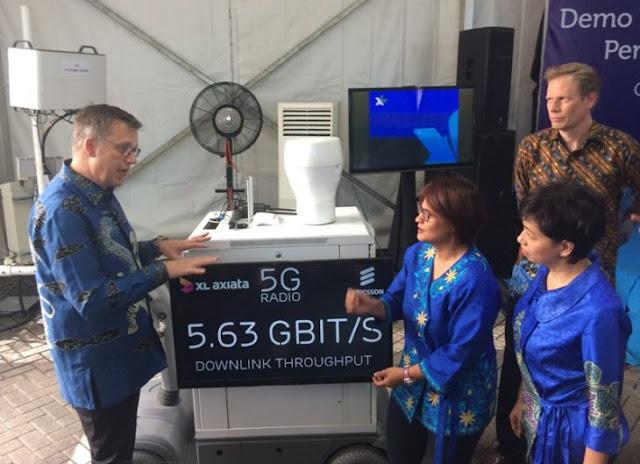 XL dan Ericsson Gelar Ujicoba Teknologi 5G Outdoor Pertama di Indonesia