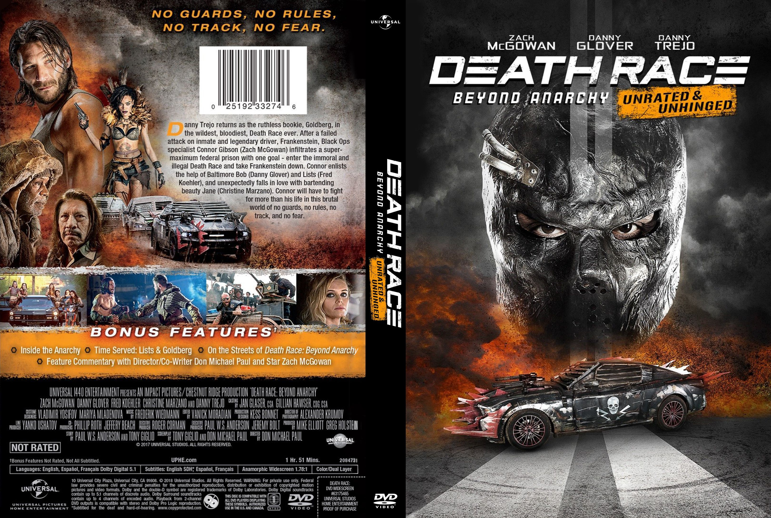 Death Race 4 Beyond Anarchy DVD Cover Cover Addict