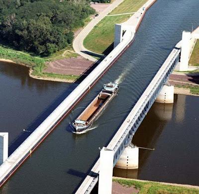 Keindahan Sungai di Atas Sungai (Magdeburg Water Bidge)