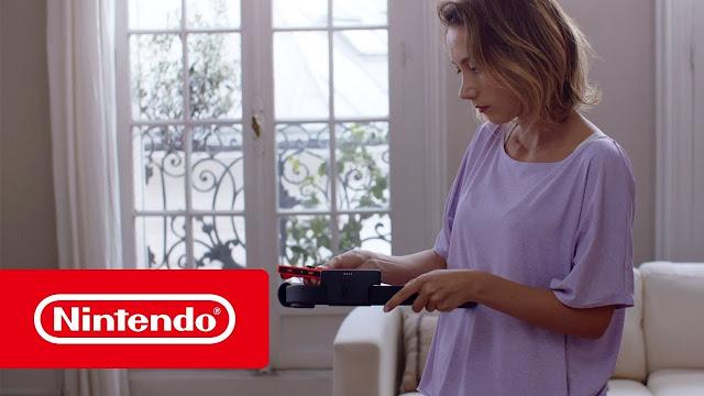 فيديو تشويقي من نينتندو لإكسسوار غريب يعمل مع Switch