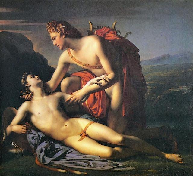 Claude-Marie-Paul Dubufe (1790–1864) Apollo et Cyparisse, 1821 Huile sur toile, 188 x 228 cm Musée Calvet, Avignon