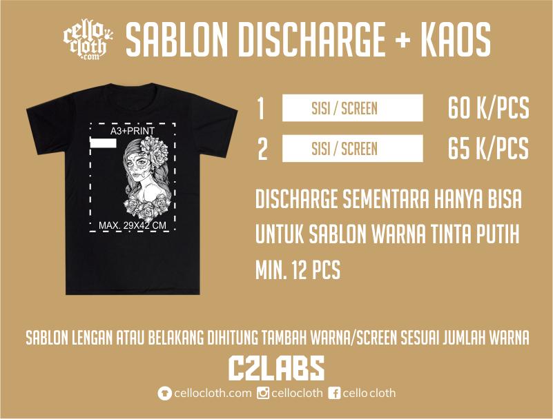 Sablon Kaos Lusinan Dan Satuan Rubber Plastisol Glow In The Dark Discharge Raster Spot Color CMYK