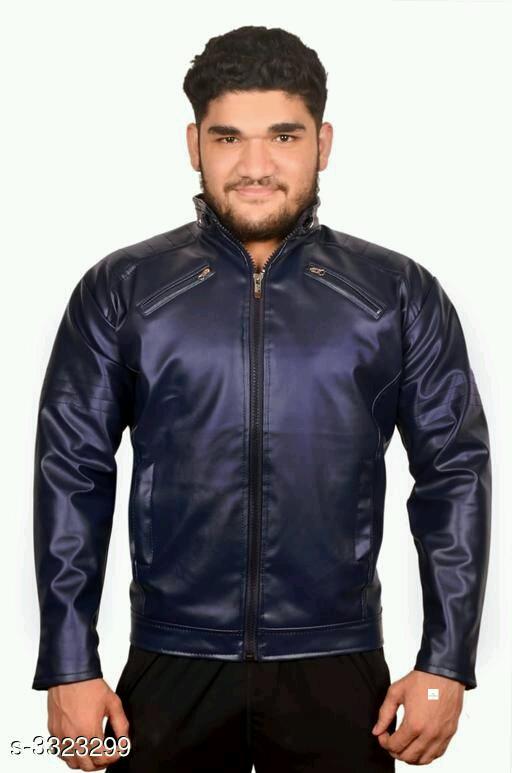Amazing mens pu leather jackets
