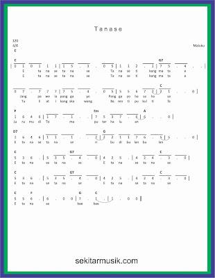 not angka tanase lagu daerah maluku