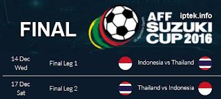 Jadwal Final Piala AFF 2016 Indonesia vs Thailand Suzuki Cup