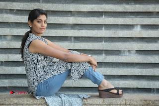 Telugu Television Actress Karuna Latest Pos In Denium Jeans  0137.JPG