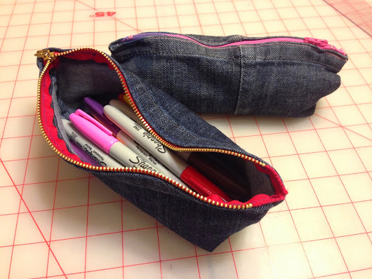 Jeans Cuff Pencil Case Instructable Published
